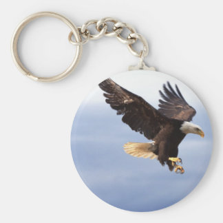 Bald Eagle Dive Key Ring