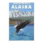 Bald Eagle Diving - Anchorage, Alaska Canvas Print