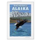 Bald Eagle Diving - Anchorage, Alaska Card