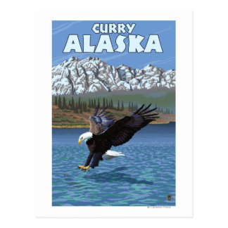 Bald Eagle Diving - Curry, Alaska Postcards