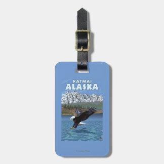 Bald Eagle Diving - Katmai, Alaska Luggage Tag
