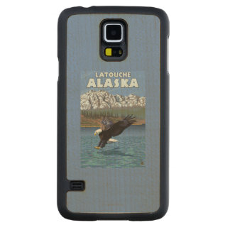 Bald Eagle Diving - Latouche, Alaska Carved Maple Galaxy S5 Case