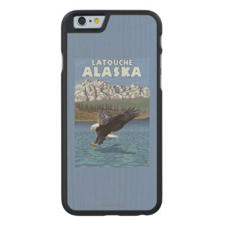 Bald Eagle Diving - Latouche, Alaska Carved® Maple iPhone 6 Slim Case