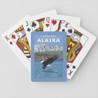 Bald Eagle Diving - Latouche, Alaska Playing Cards