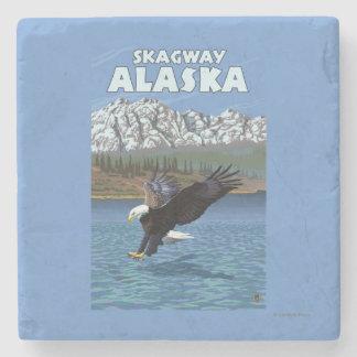 Bald Eagle Diving - Skagway, Alaska Stone Coaster