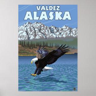 Bald Eagle Diving - Valdez, Alaska Poster