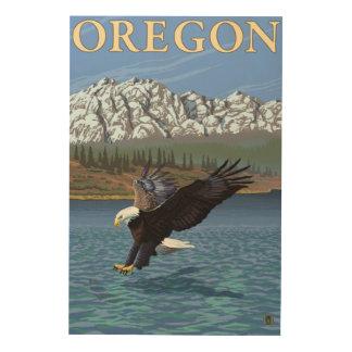 Bald Eagle Diving- Vintage Travel Poster