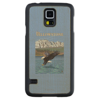 Bald Eagle Diving - West Yellowstone, MT Maple Galaxy S5 Slim Case