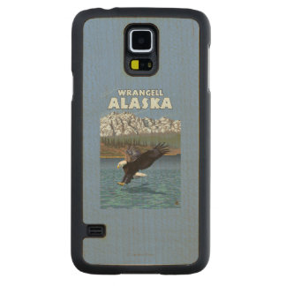 Bald Eagle Diving - Wrangell, Alaska Carved Maple Galaxy S5 Case
