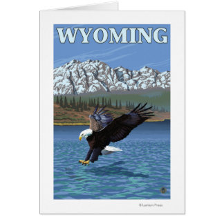 Bald Eagle Diving - Wyoming Card
