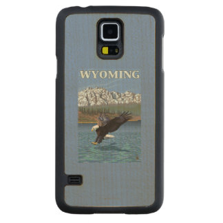 Bald Eagle Diving - Wyoming Maple Galaxy S5 Slim Case