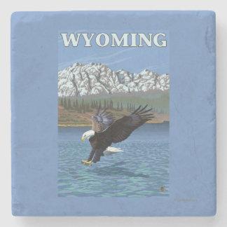 Bald Eagle Diving - Wyoming Stone Coaster