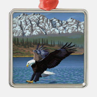 Bald Eagle Diving - Yellowstone National Park Christmas Ornament