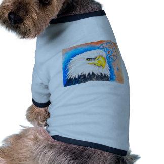 Bald Eagle Dreamcatcher Art Ringer Dog Shirt