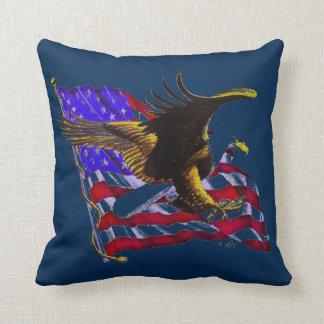Bald Eagle & Flag Cushion