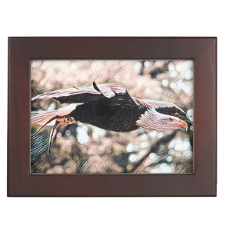 Bald Eagle Fly Like an Eagle Keepsake Box