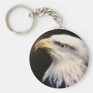 Bald Eagle / Fly With The Eagles Basic Round Button Key Ring