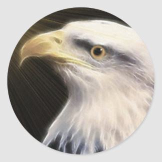 Bald Eagle / Fly With The Eagles Round Stickers