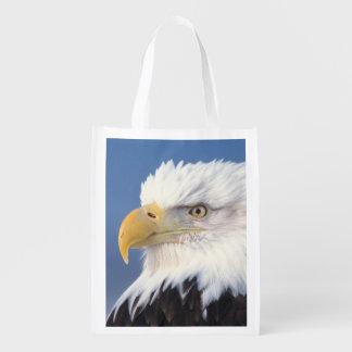 bald eagle, Haliaeetus leuccocephalus, Reusable Grocery Bag