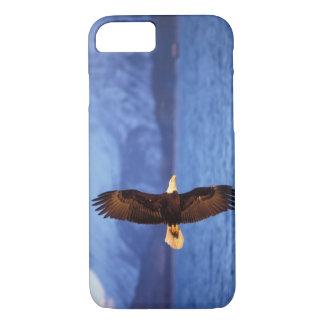 bald eagle, Haliaeetus leucocephalus, in flight iPhone 7 Case