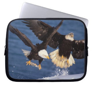 bald eagle, Haliaeetus leucocephalus, taking off Laptop Sleeve