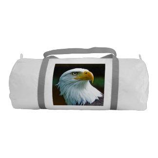Bald Eagle Head 001 01 Gym Duffel Bag