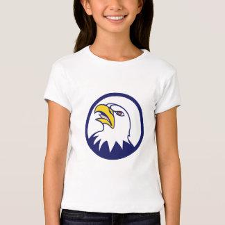 Bald Eagle Head Angry Looking Up Circle Cartoon Shirt