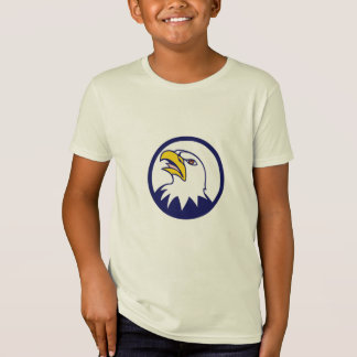 Bald Eagle Head Angry Looking Up Circle Cartoon Tshirts