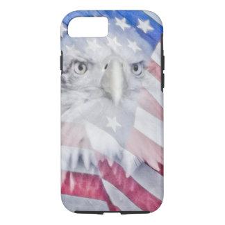 Bald Eagle Head & the American Flag I iPhone 7 Case