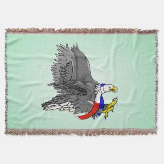 Bald Eagle Hunting Prey USA Scarf