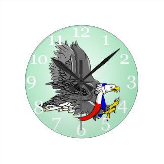 Bald Eagle Hunting Prey USA Scarf Clocks