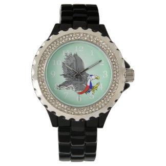 Bald Eagle Hunting Prey USA Scarf Wrist Watches