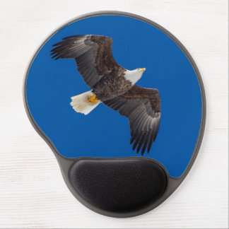 Bald Eagle In Blue Sky Gel Mouse Pad