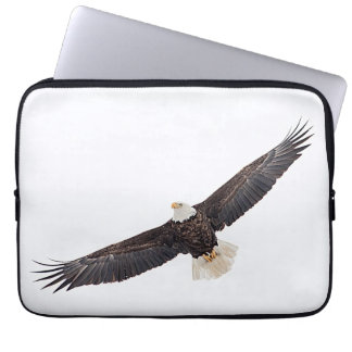 Bald Eagle in flight Laptop Sleeve