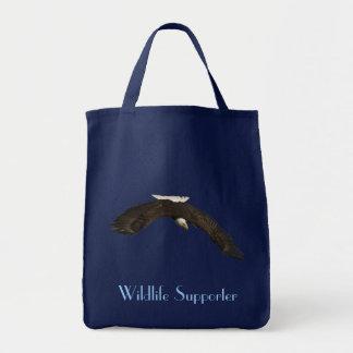 Bald Eagle in Flight Wildlife Supporter Tote Bag