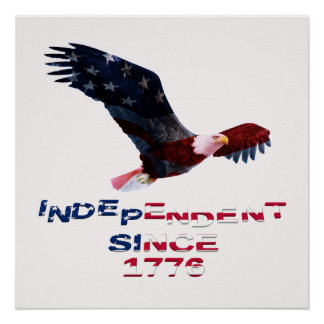 Bald Eagle Independence Day Poster