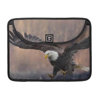 Bald Eagle landing MacBook Pro Sleeve