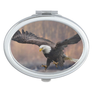 Bald Eagle landing Makeup Mirrors