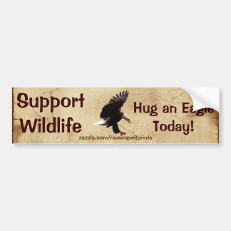 BALD EAGLE Landing Wildlife Support Bumper Sticker
