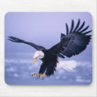 Bald Eagle Landing Wings Spread in a Storm, Mouse Mat