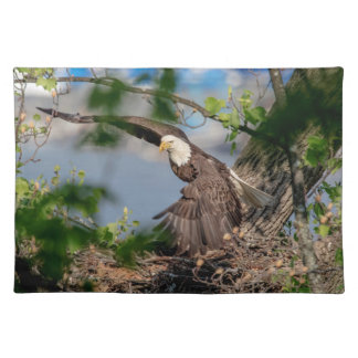 Bald Eagle leaving the nest Placemat