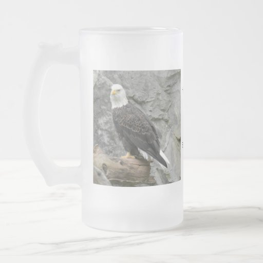 Bald Eagle Lefties Frosted Stein Coffee Mugs