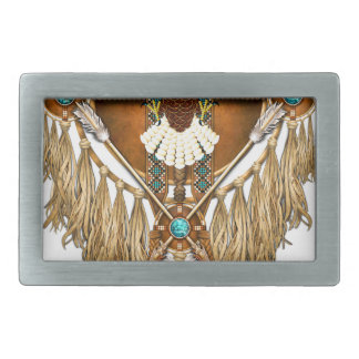 Bald Eagle Mandala - revised Rectangular Belt Buckles
