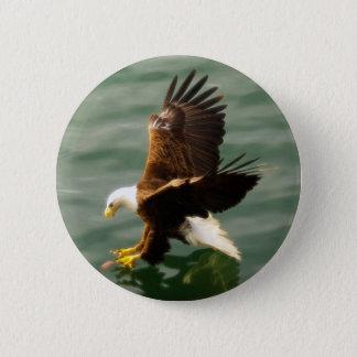 Bald Eagle Motivational Gift 6 Cm Round Badge