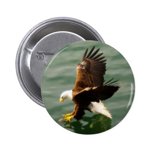 Bald Eagle Motivational Gift Button
