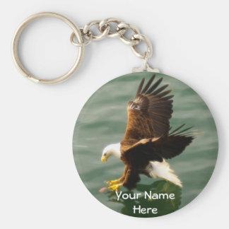 Bald Eagle Motivational Gift Basic Round Button Key Ring