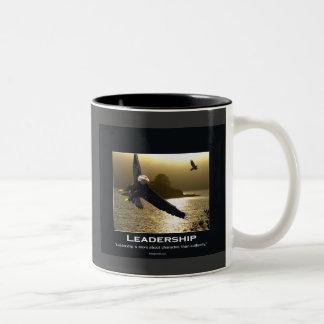 Bald Eagle Motivational Gifts Two-Tone Coffee Mug