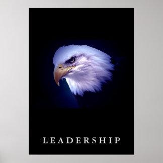 Bald Eagle Motivational Leadership Vertical Poster