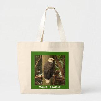Bald Eagle (National Bird) Large Tote Bag