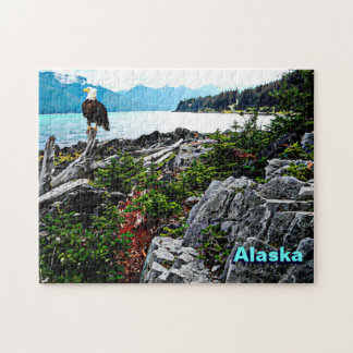 Bald Eagle On Alaska Coast Jigsaw Puzzle
